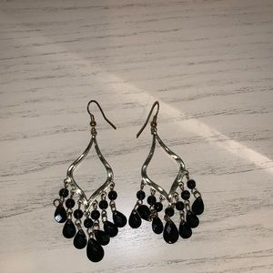 Francesca's black chandelier earrings